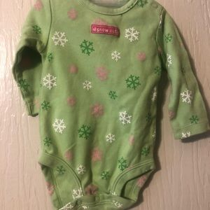 **5 items for $10**Carter's green snow cute onesie